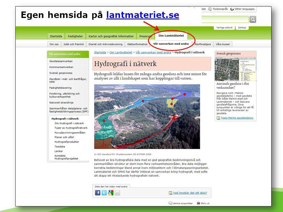 Projektinformation på lantmateriet.se