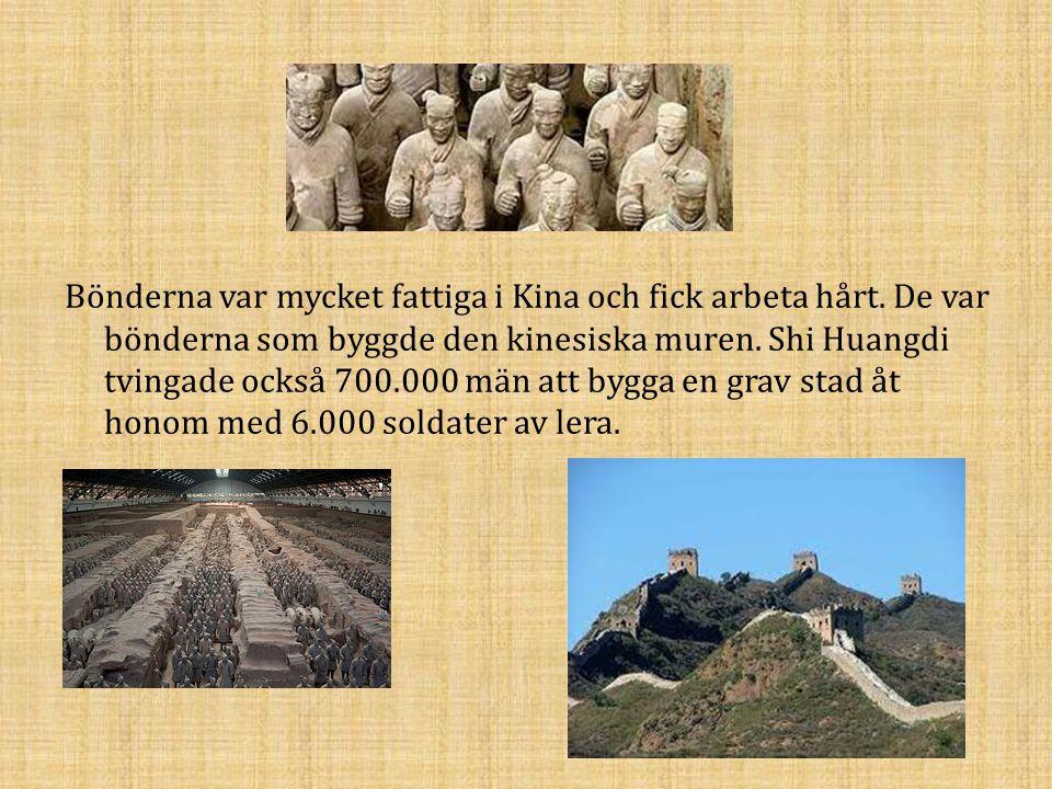 Bönderna var mycket fattiga i Kina och fick arbeta hårt