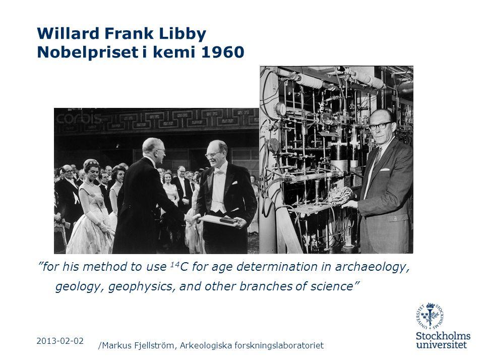 Willard Frank Libby Nobelpriset i kemi 1960