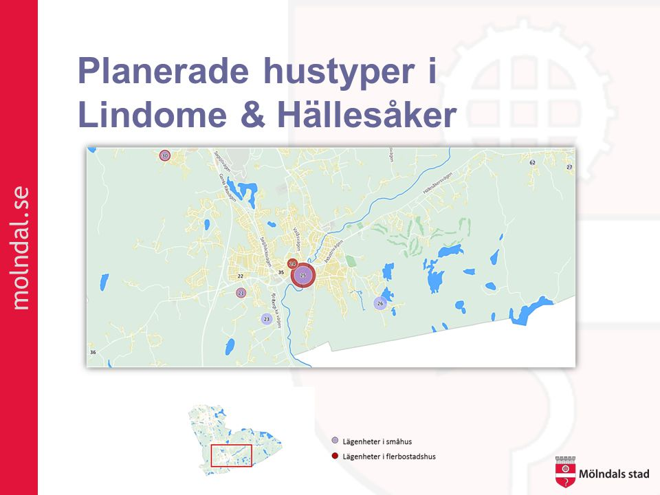 Planerade hustyper i Lindome & Hällesåker