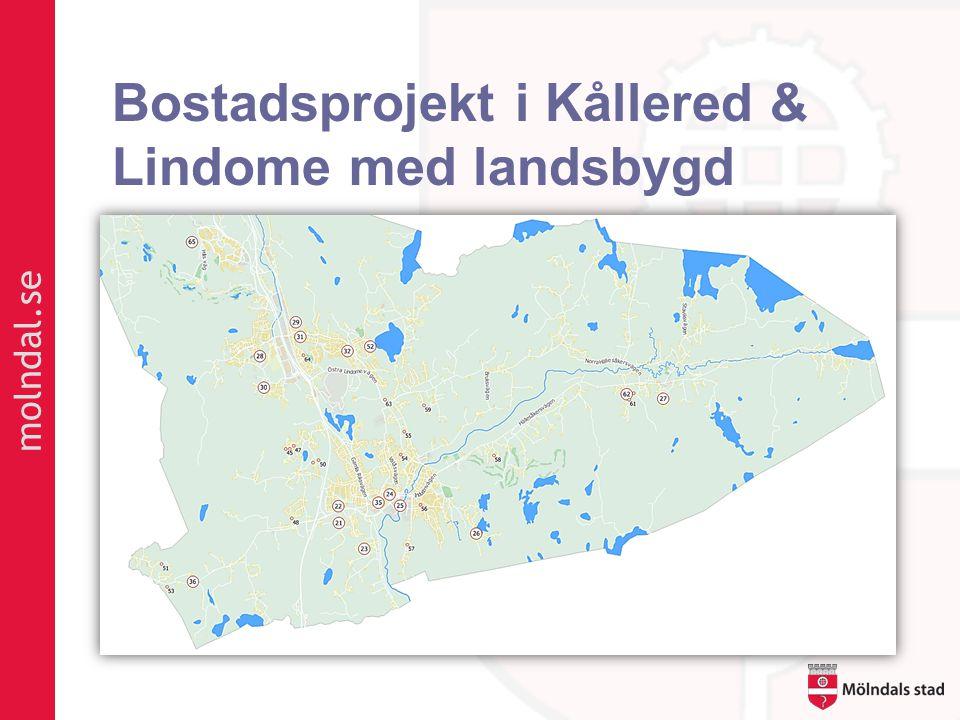 Bostadsprojekt i Kållered & Lindome med landsbygd