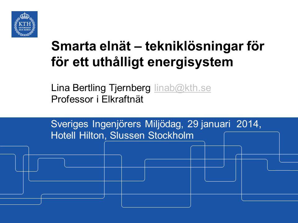 Smarta elnät – tekniklösningar för för ett uthålligt energisystem