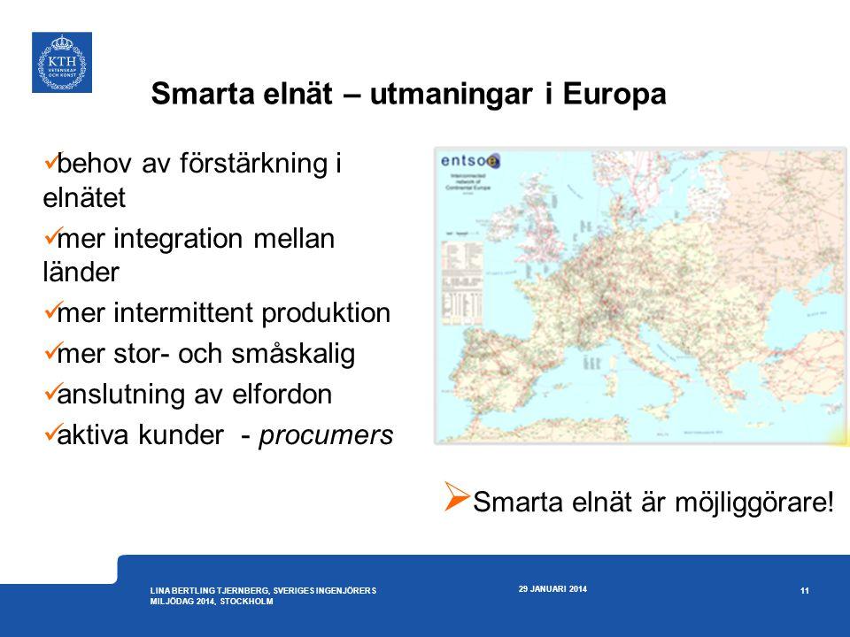Smarta elnät – utmaningar i Europa