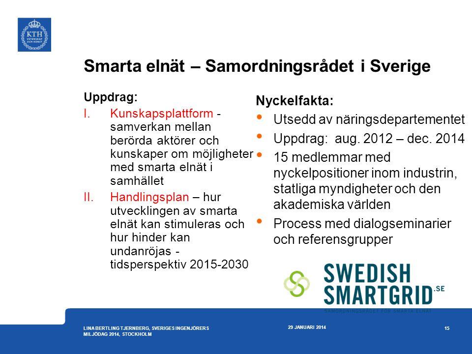 Smarta elnät – Samordningsrådet i Sverige