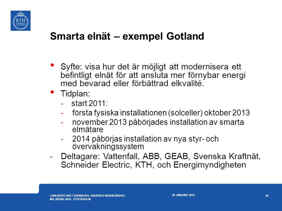 Smarta elnät – exempel Gotland