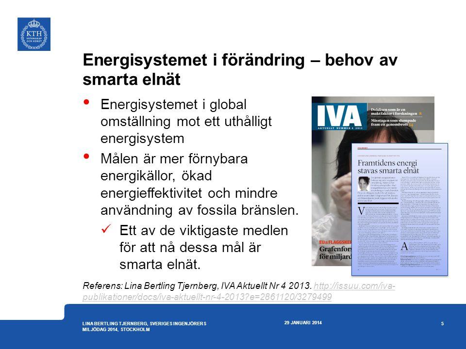 Energisystemet i förändring – behov av smarta elnät