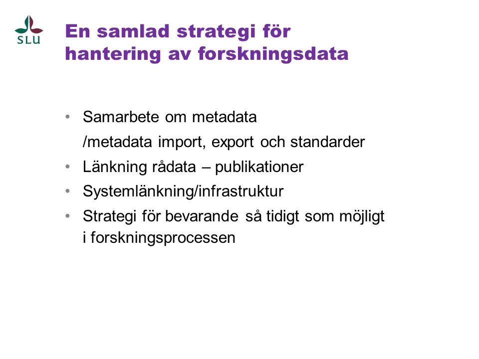 En samlad strategi för hantering av forskningsdata