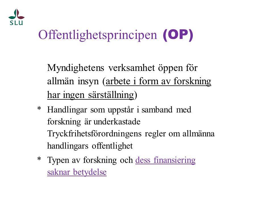 Offentlighetsprincipen (OP)
