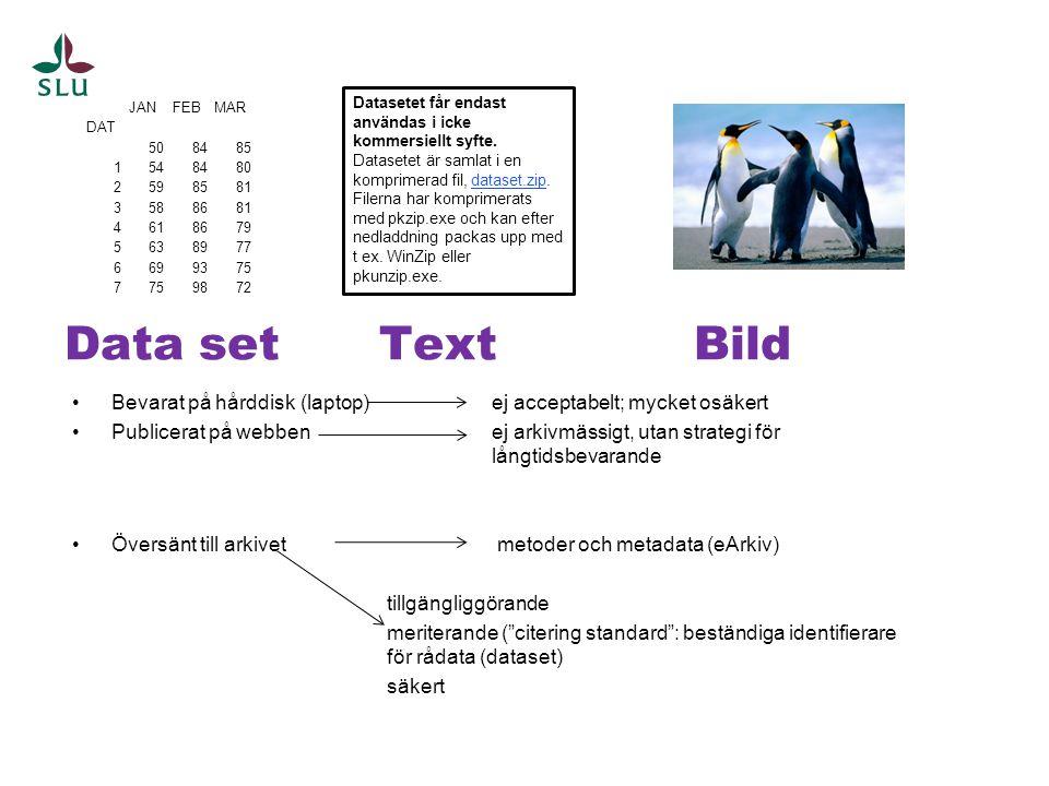 Datasetet får endast användas i icke kommersiellt syfte