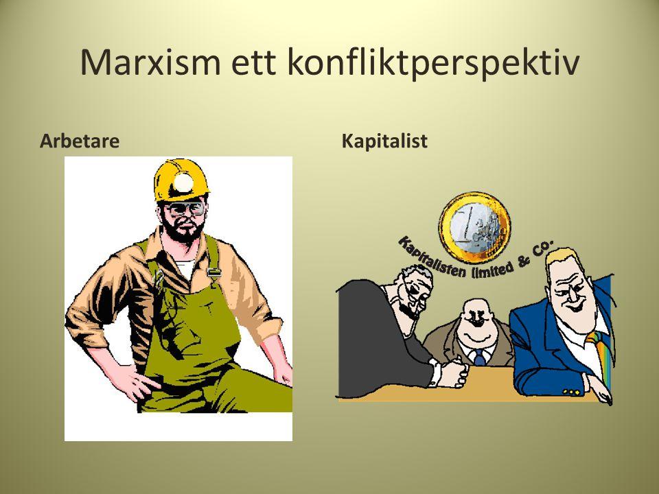 Marxism ett konfliktperspektiv