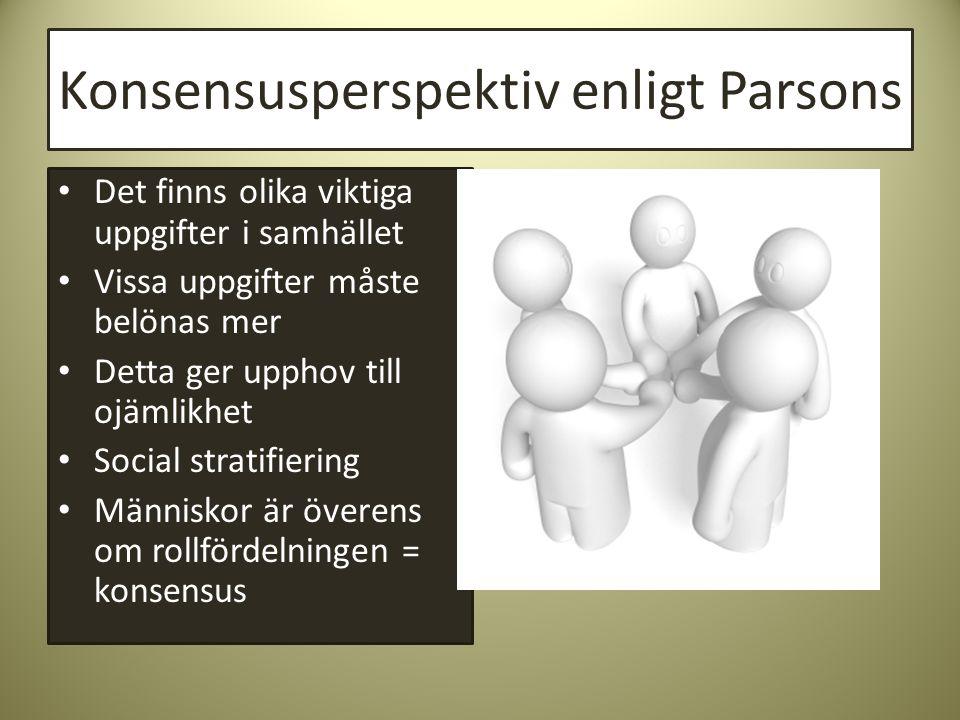 Konsensusperspektiv enligt Parsons