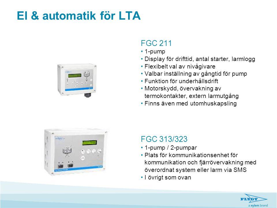 El & automatik för LTA FGC 211 FGC 313/323 1-pump
