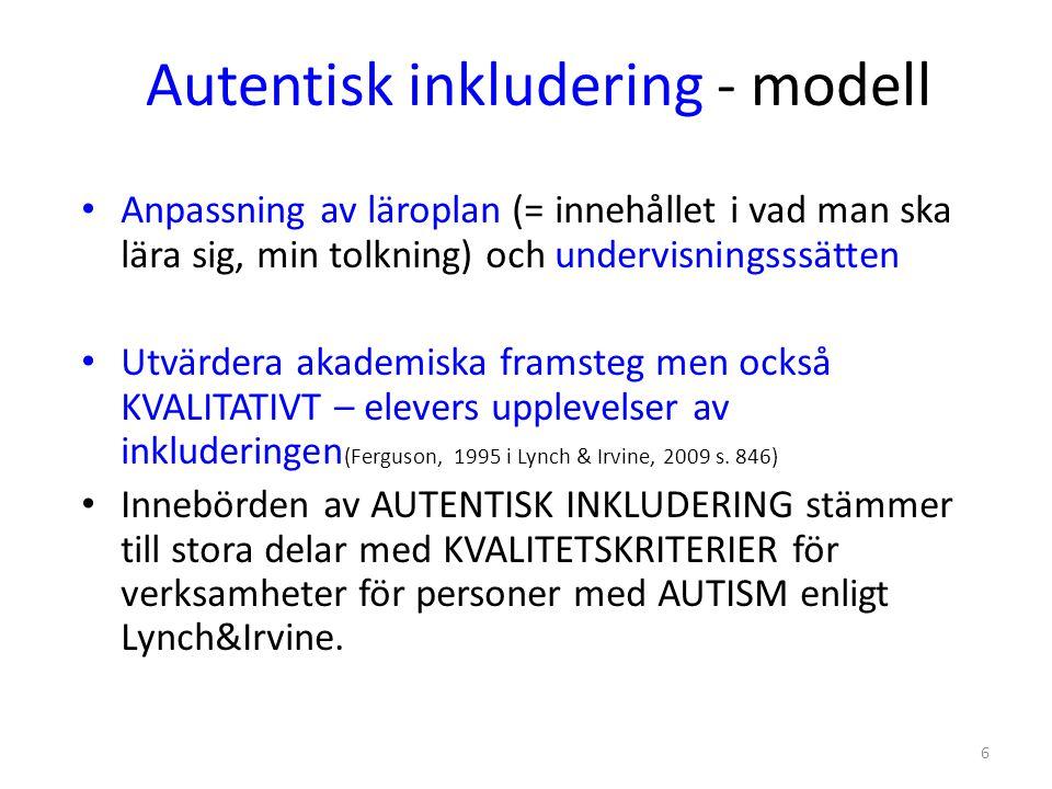Autentisk inkludering - modell