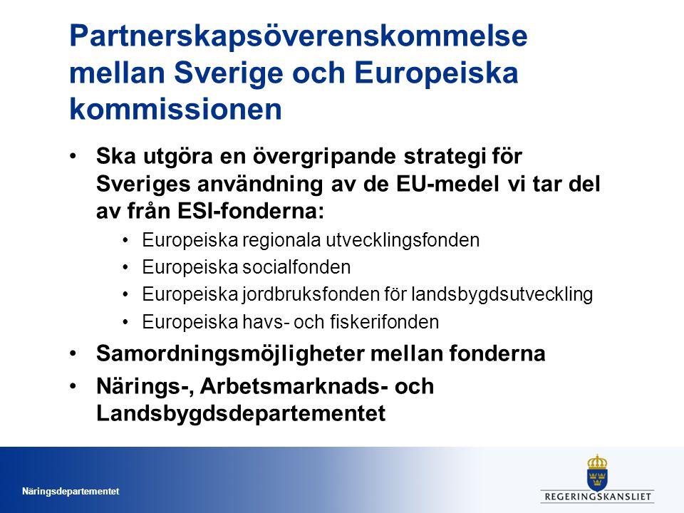 Partnerskapsöverenskommelse mellan Sverige och Europeiska kommissionen