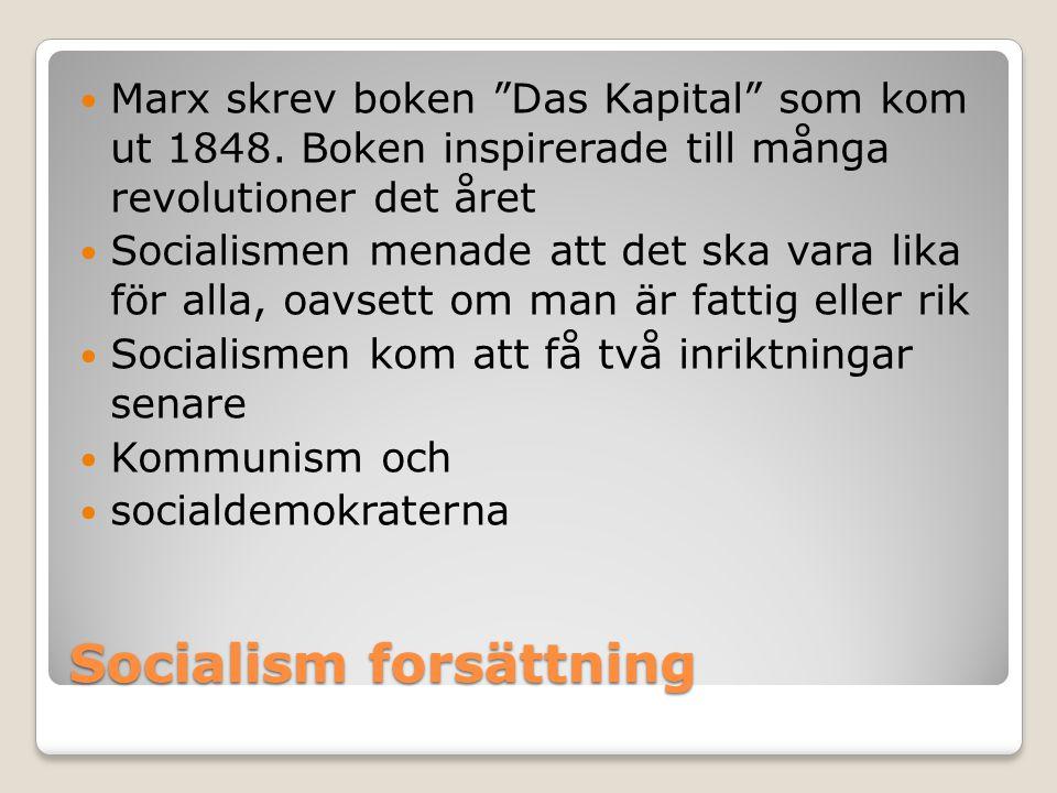 Socialism forsättning