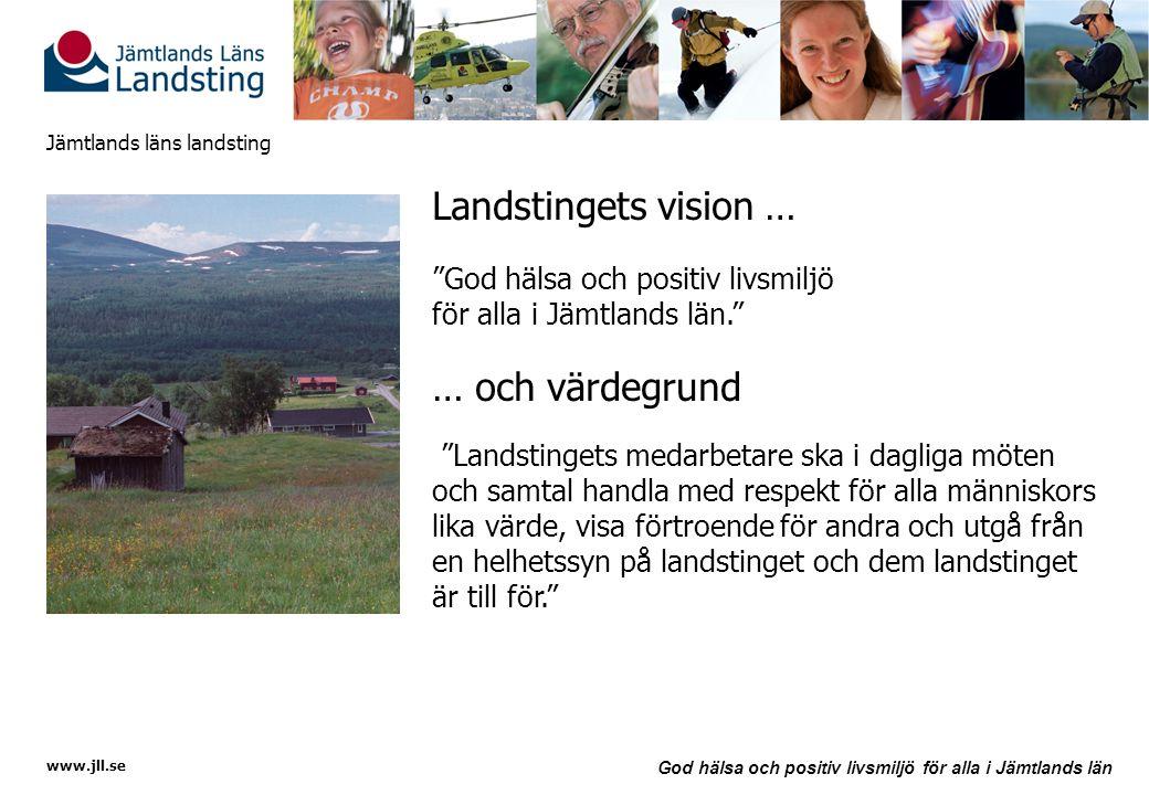 Landstingets vision … … och värdegrund