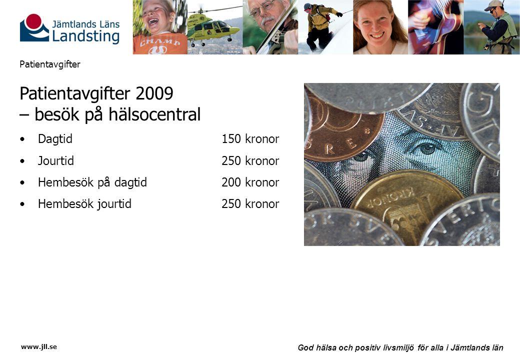 Patientavgifter 2009 – besök på hälsocentral