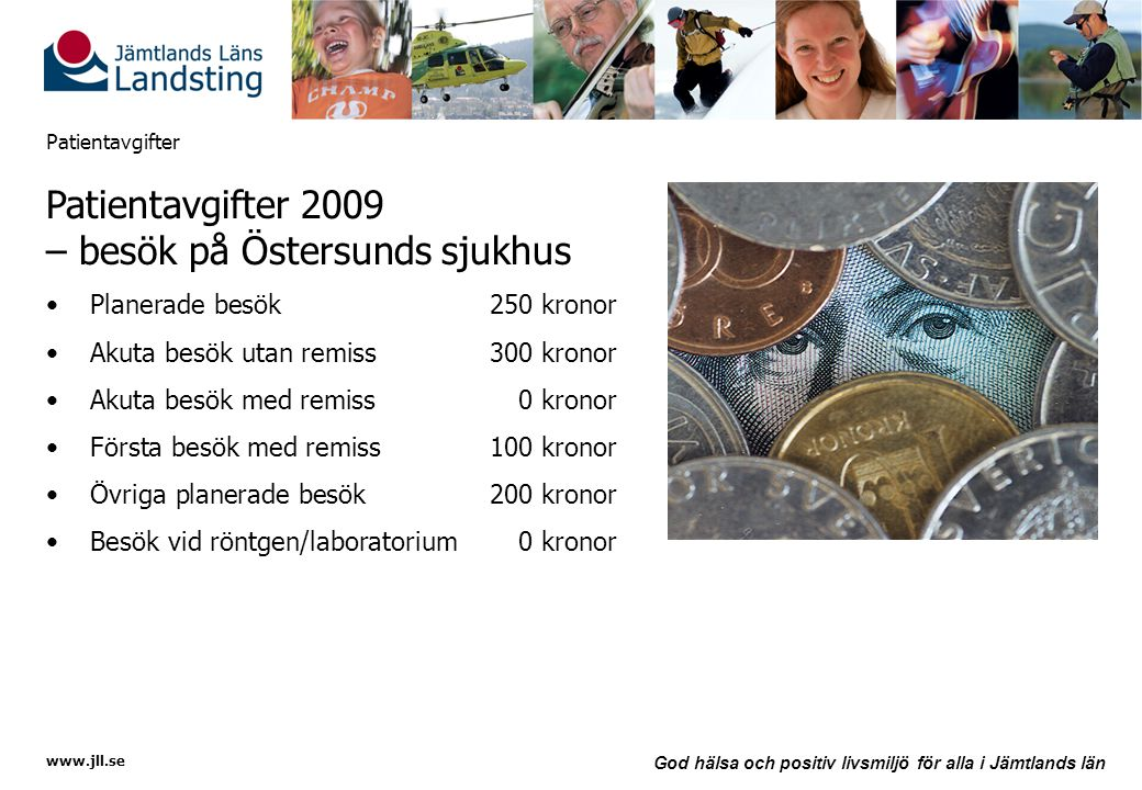 Patientavgifter 2009 – besök på Östersunds sjukhus