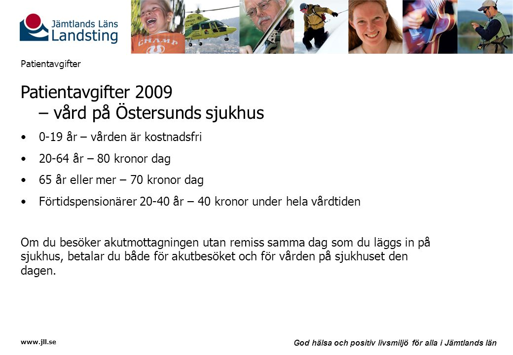 Patientavgifter 2009 – vård på Östersunds sjukhus