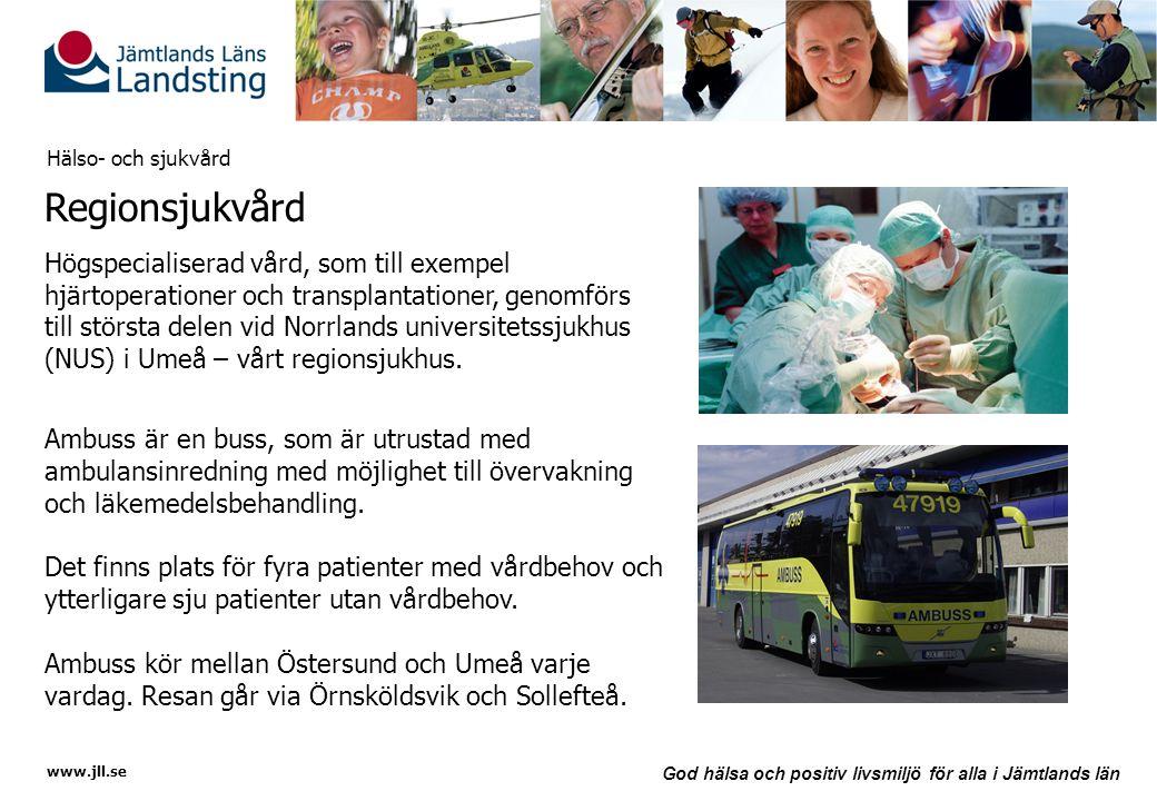 Hälso- och sjukvård Regionsjukvård.