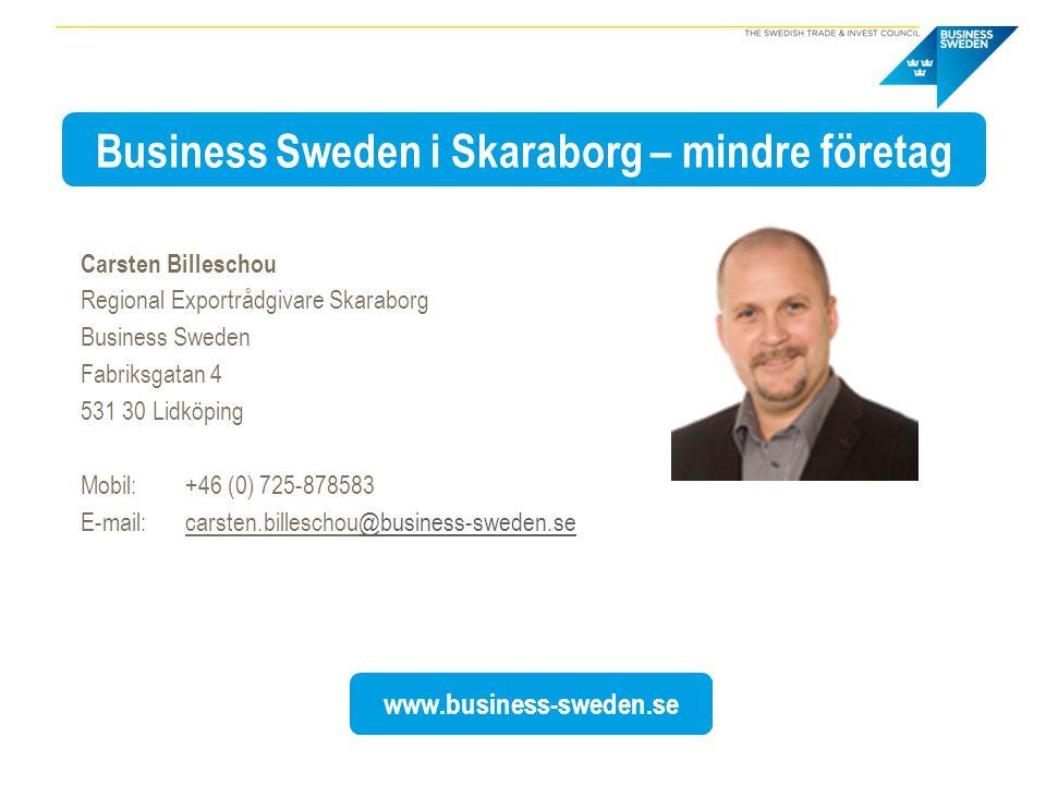 Business Sweden i Skaraborg – mindre företag