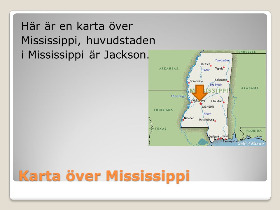 Karta över Mississippi