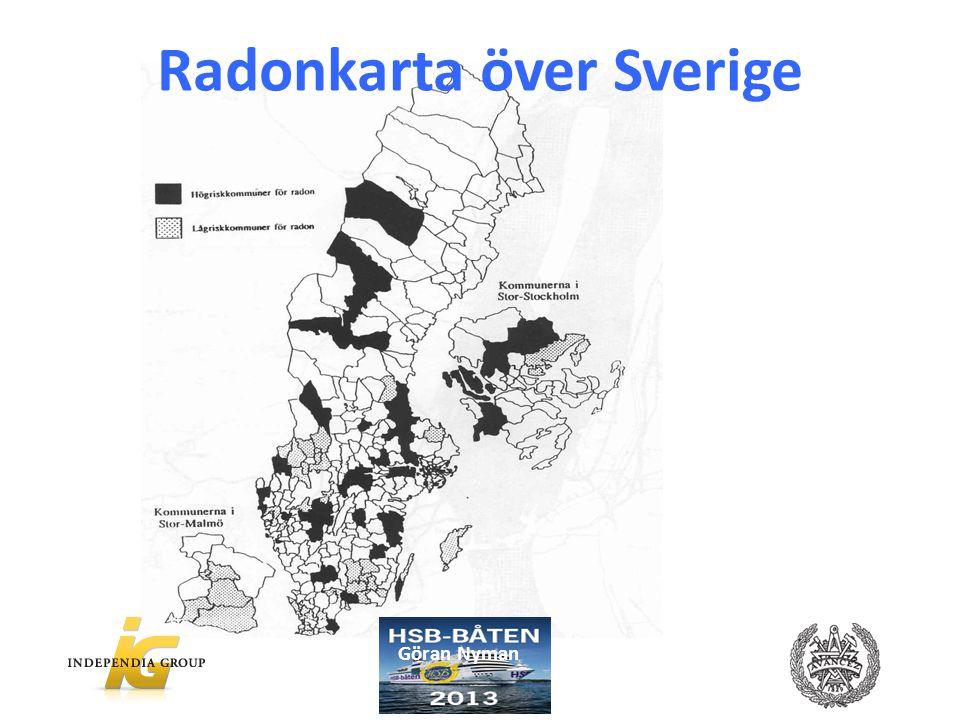 Radonkarta över Sverige