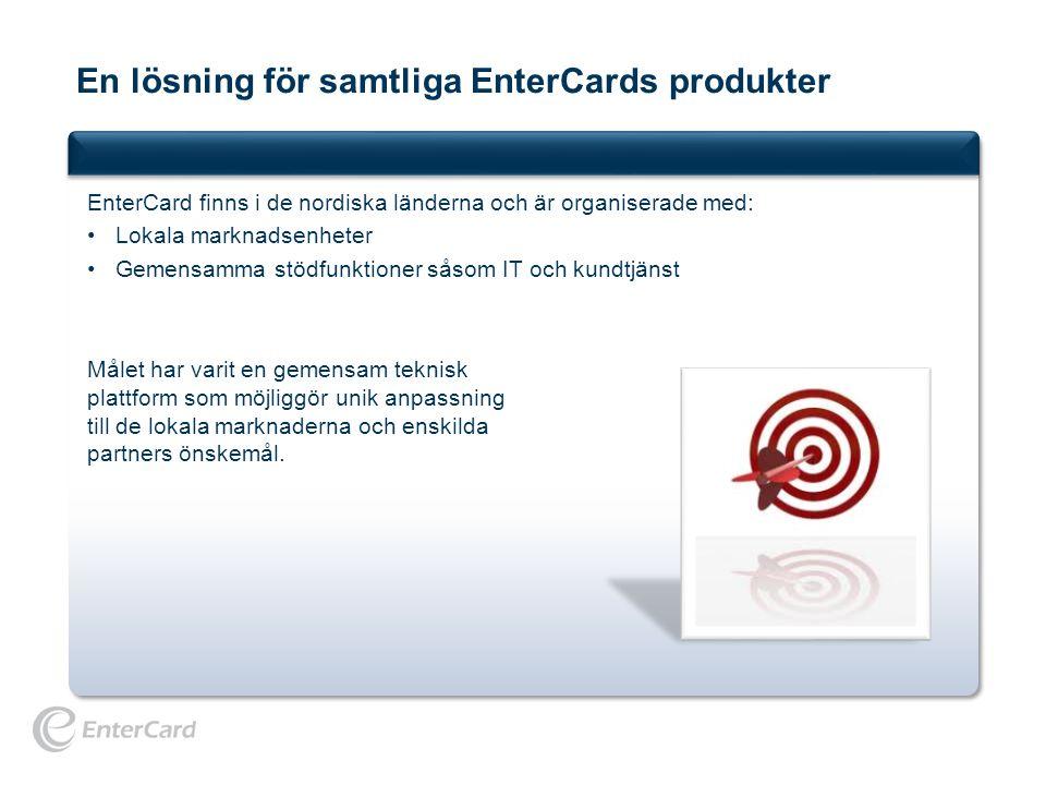 En lösning för samtliga EnterCards produkter