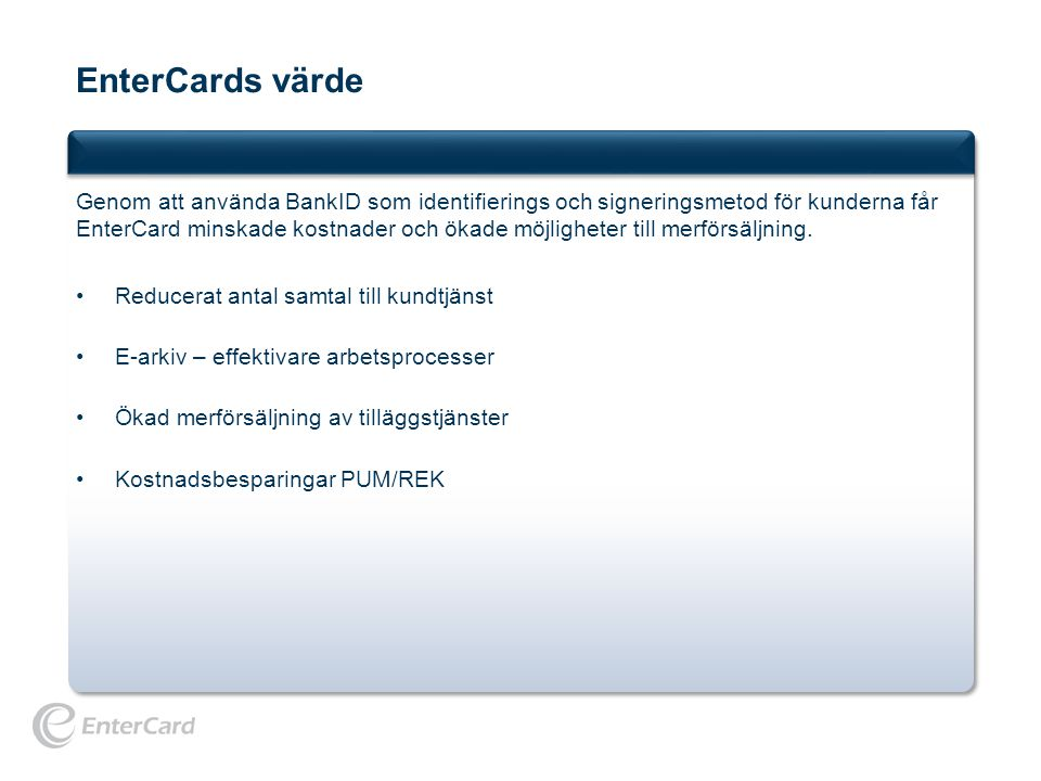 EnterCards värde