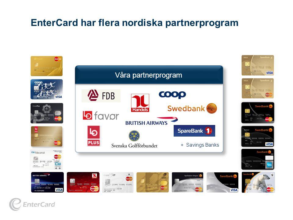 EnterCard har flera nordiska partnerprogram