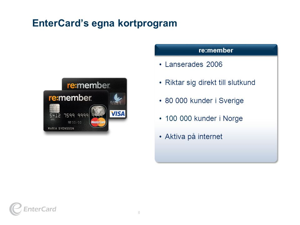 EnterCard's egna kortprogram