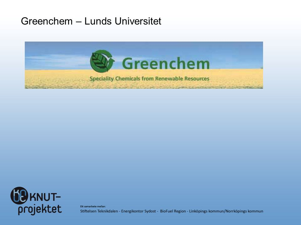 Greenchem – Lunds Universitet