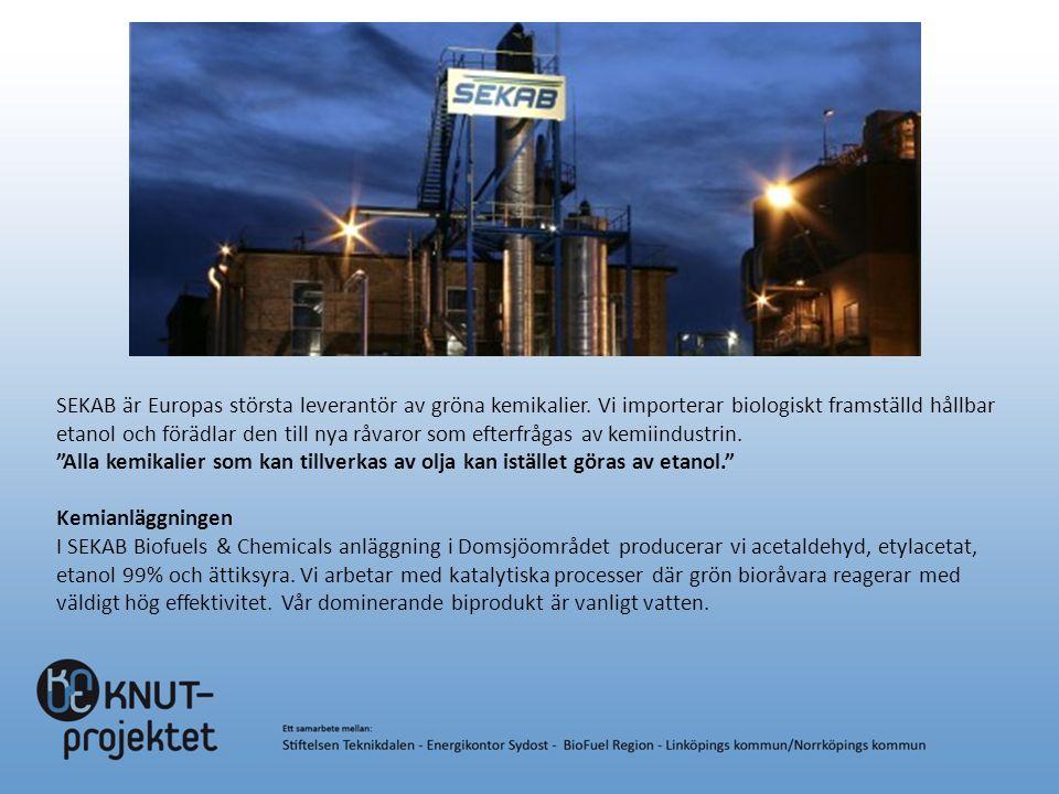 SEKAB är Europas största leverantör av gröna kemikalier