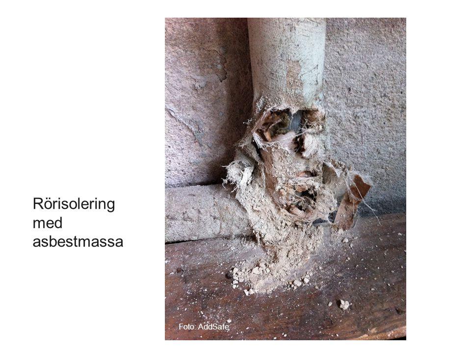 Rörisolering med asbestmassa