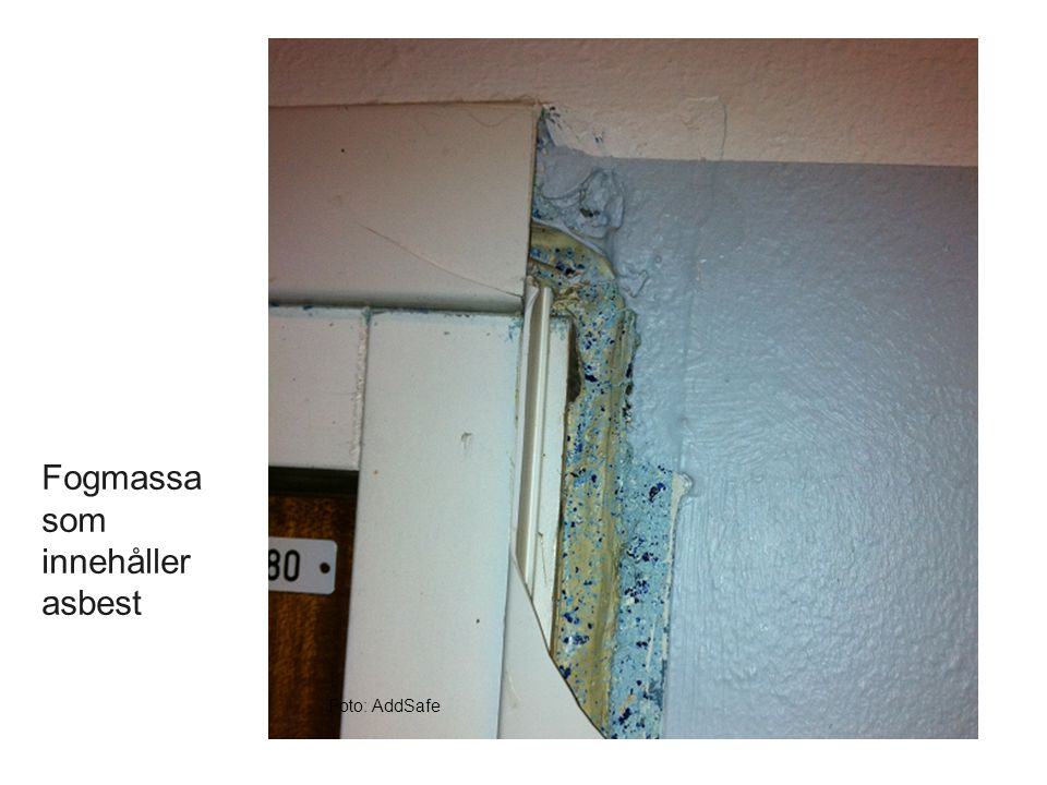 Fogmassa som innehåller asbest