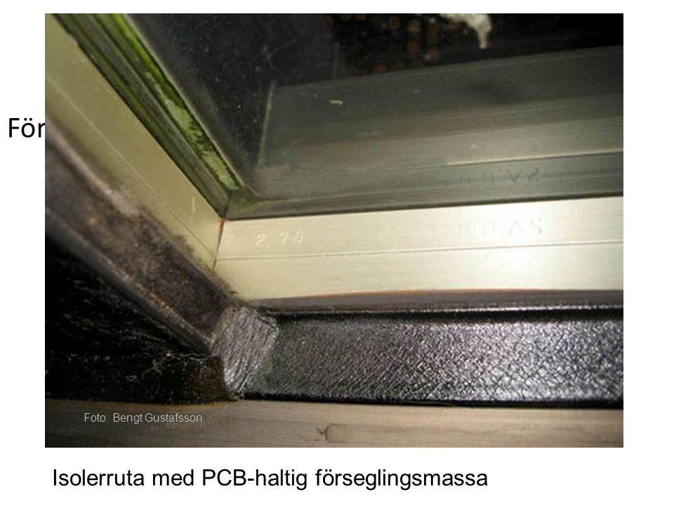 För bilder Isolerruta med PCB-haltig förseglingsmassa