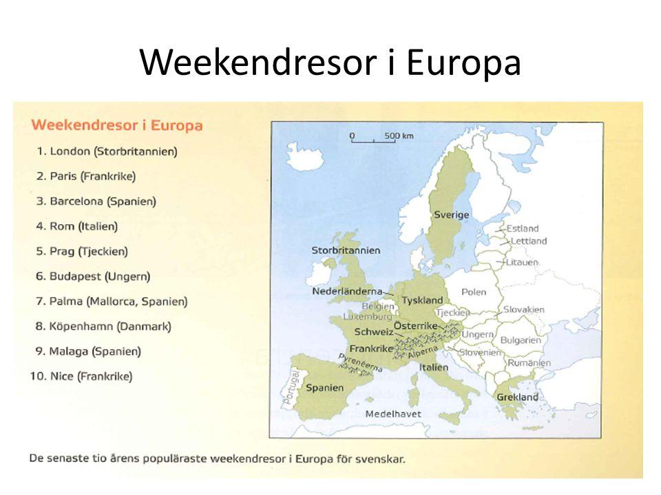 Weekendresor i Europa