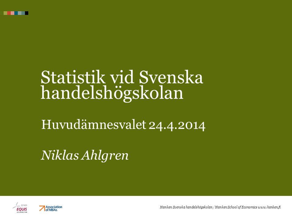 Statistik vid Svenska handelshögskolan