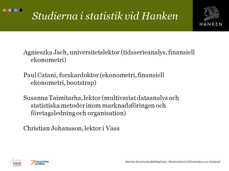 Studierna i statistik vid Hanken