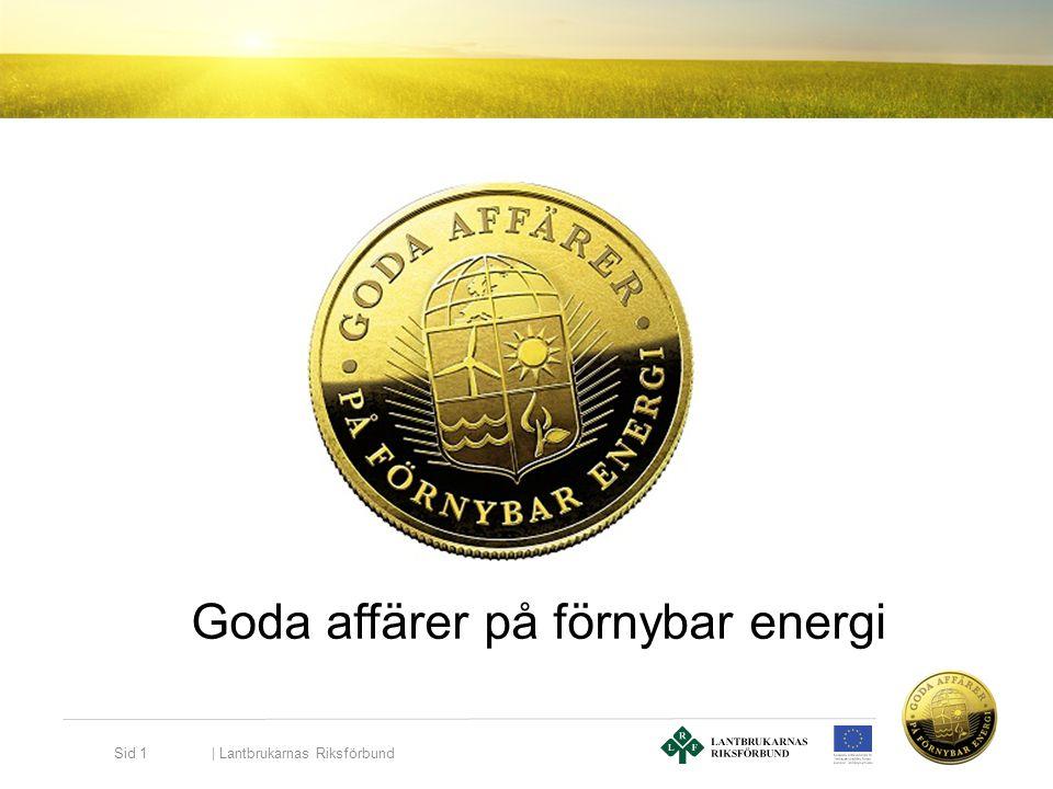 Goda affärer på förnybar energi