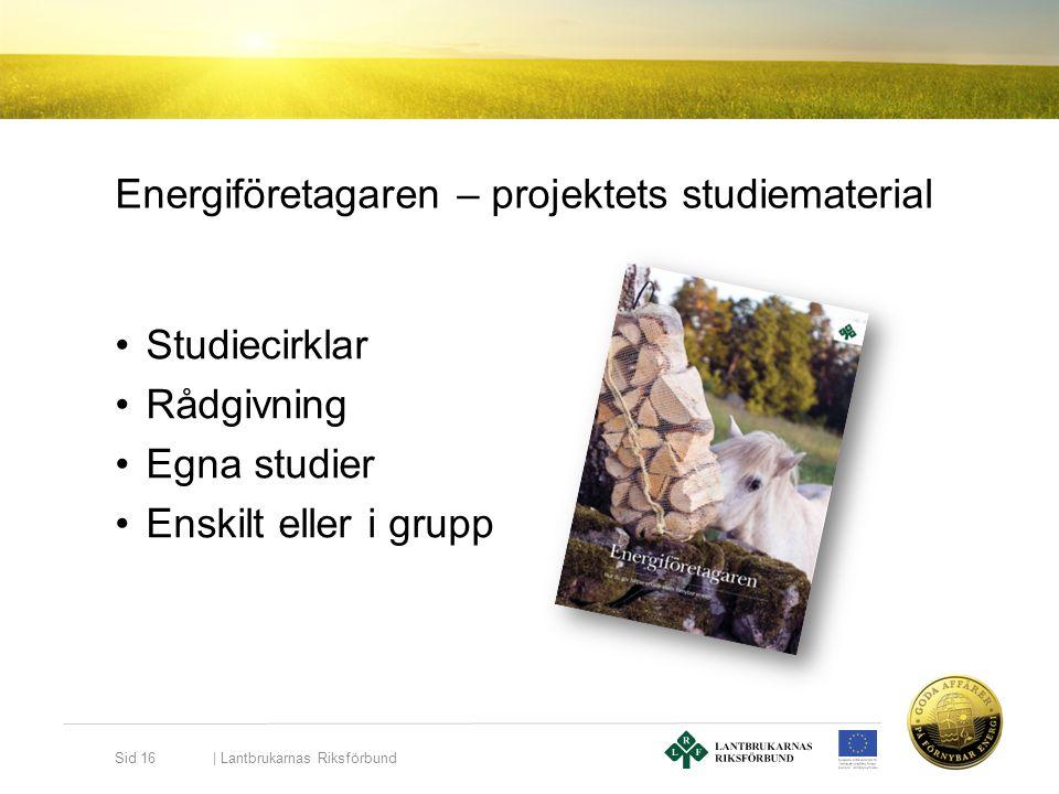 Energiföretagaren – projektets studiematerial