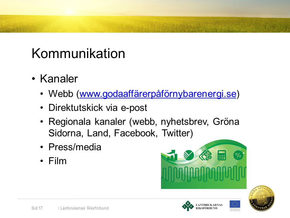 Kommunikation Kanaler Webb (www.godaaffärerpåförnybarenergi.se)