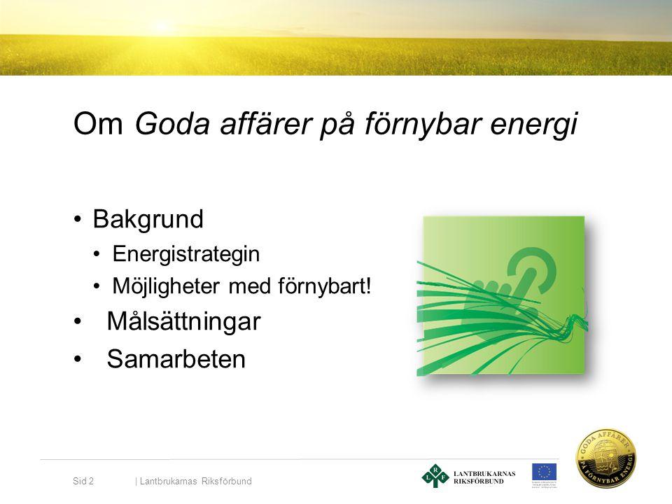 Om Goda affärer på förnybar energi