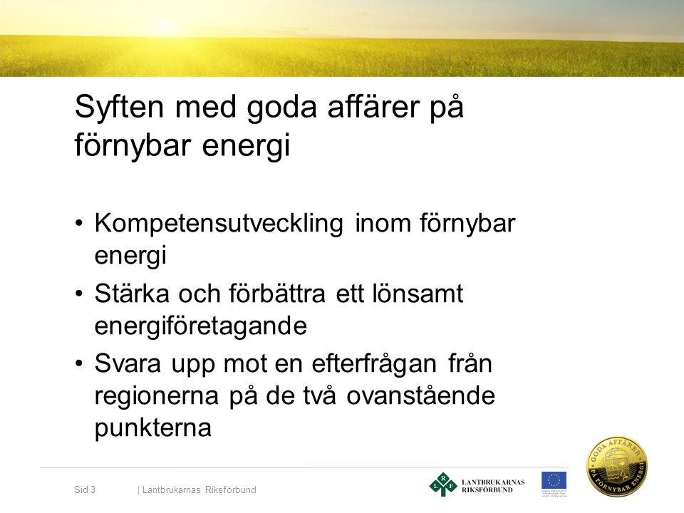 Syften med goda affärer på förnybar energi