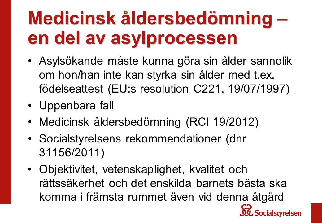 Medicinsk åldersbedömning – en del av asylprocessen