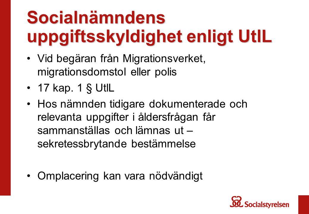 Socialnämndens uppgiftsskyldighet enligt UtlL