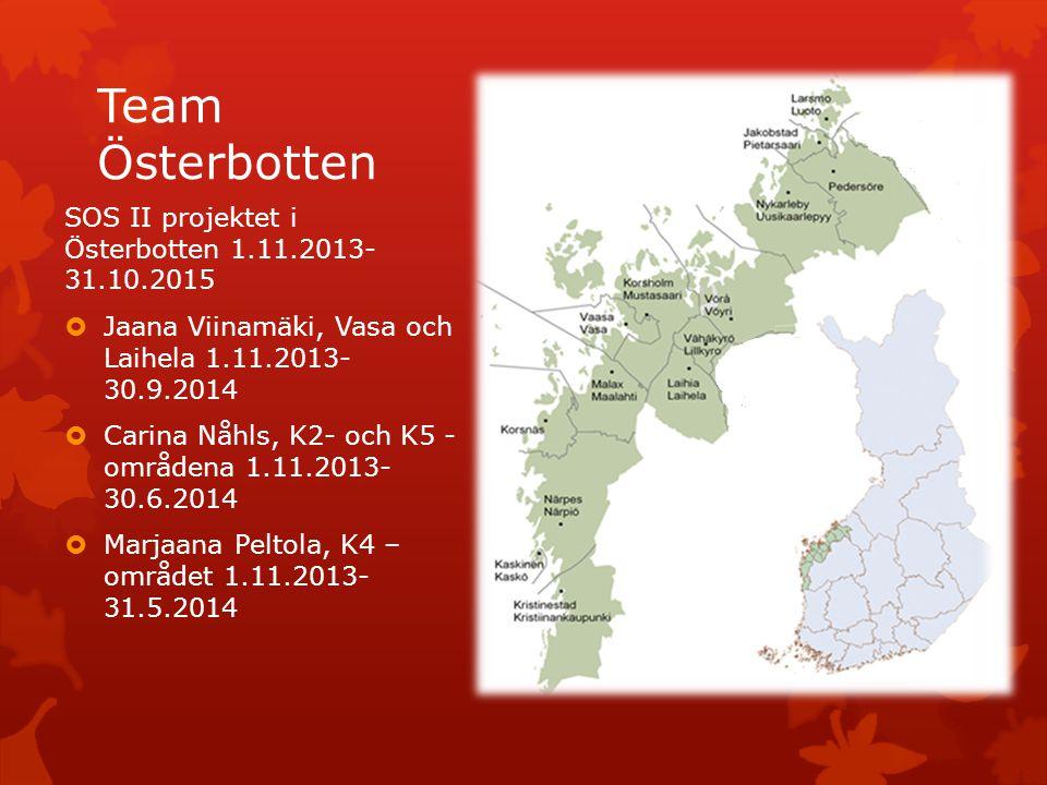 Team Österbotten SOS II projektet i Österbotten 1.11.2013- 31.10.2015
