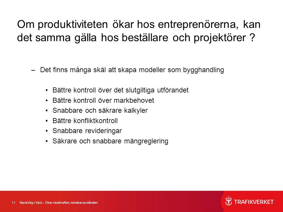 Om produktiviteten ökar hos entreprenörerna, kan det samma gälla hos beställare och projektörer