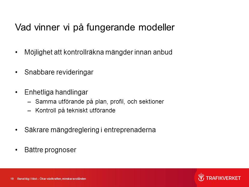 Vad vinner vi på fungerande modeller