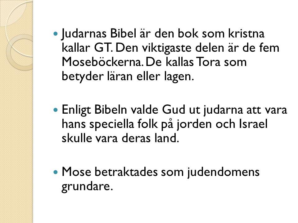 Judarnas Bibel är den bok som kristna kallar GT
